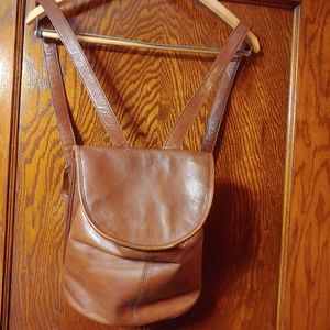 Hidesign leather backpack